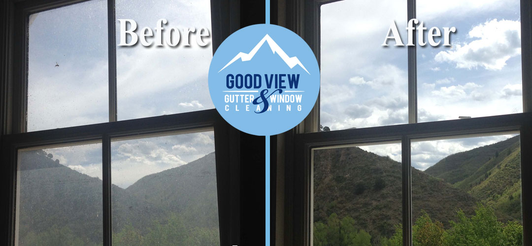 Window cleaning service before and after