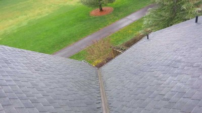 Clean roof and gutters on home