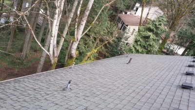 Clean roof and gutters